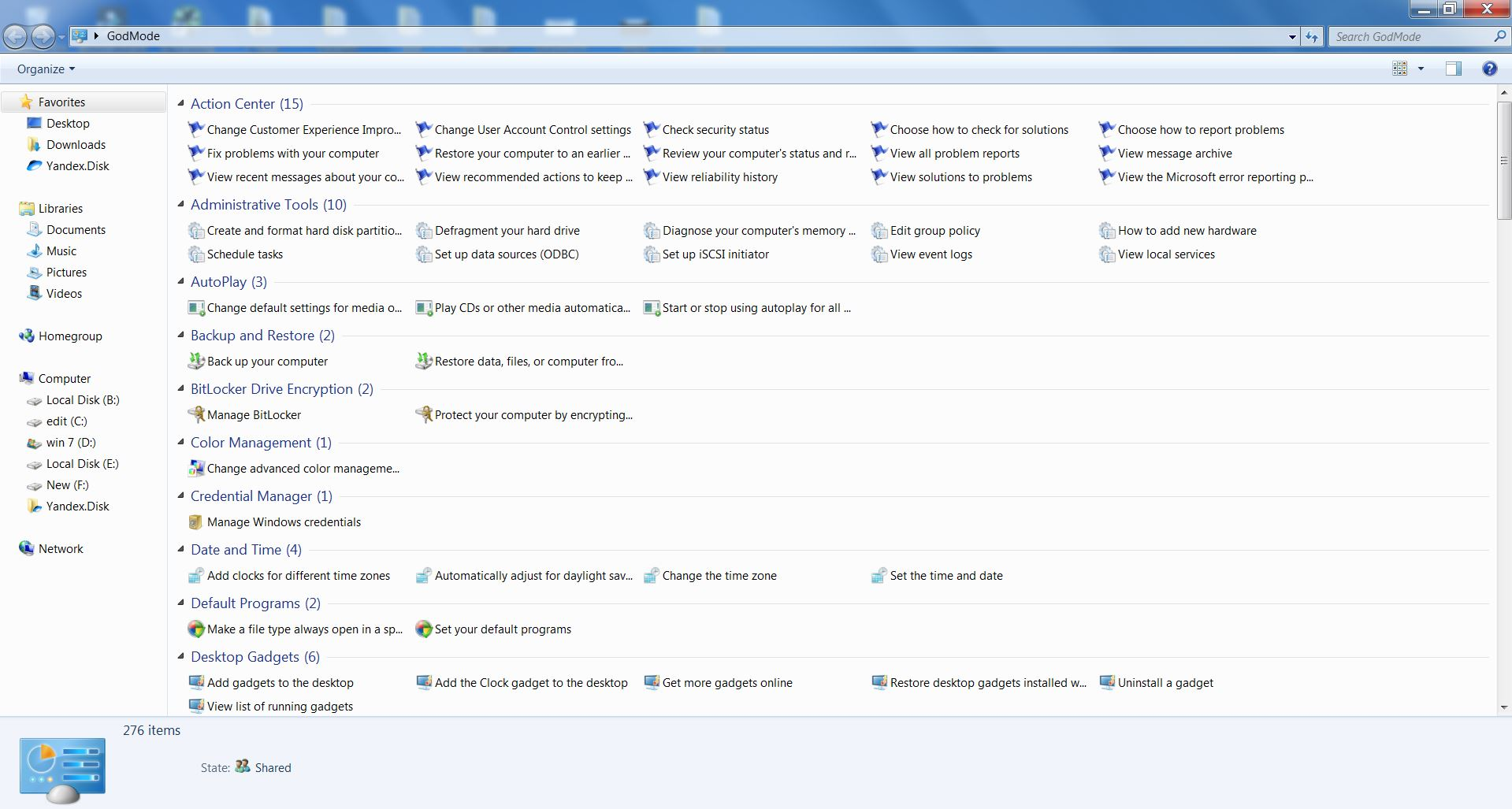 How to Enable God Mode in Windows 7&10 ?