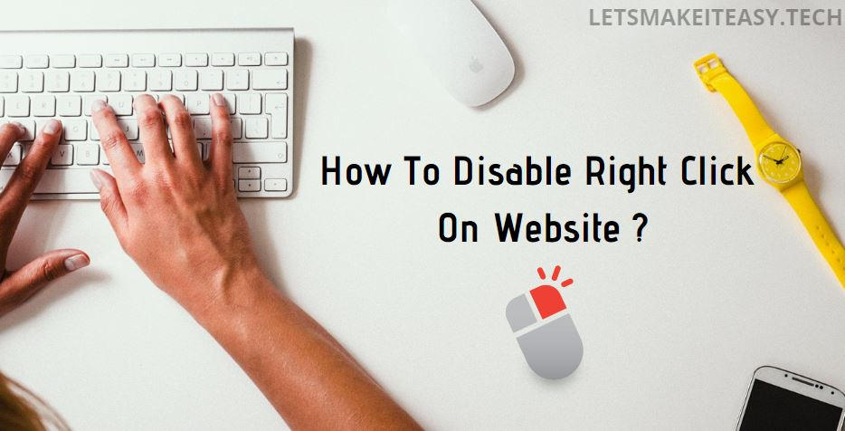 How to Disable Right Click On Website