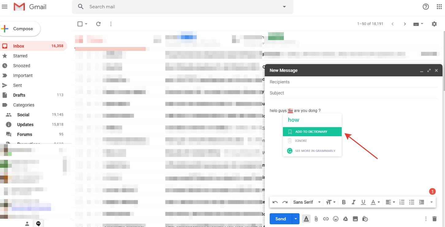 How to use Grammarly in Gmail