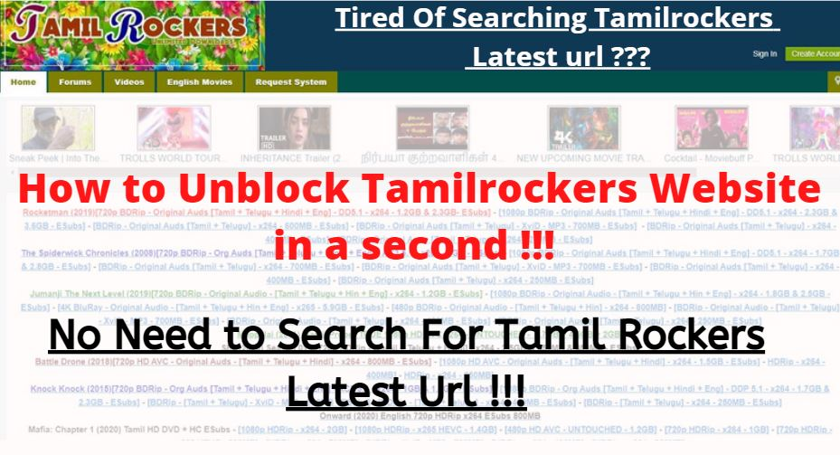 How to Unblock Tamilrockers Website in PC 2020