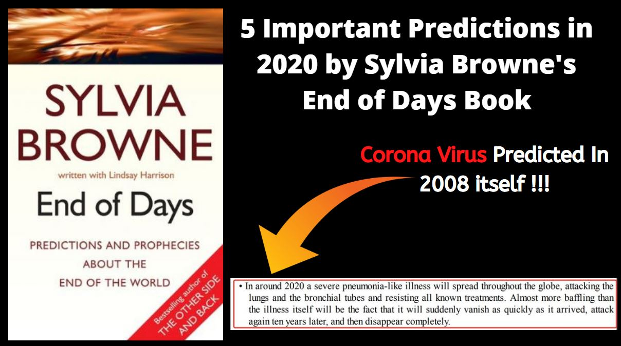 5 Important Predictions in 2020 by Sylvia Browne