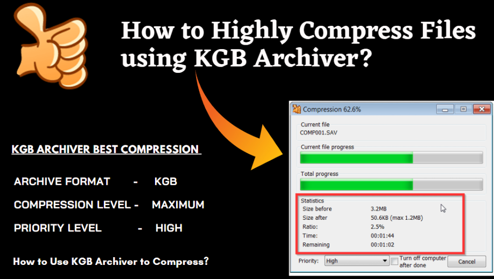 How to Highly Compress Files using KGB Archiver?