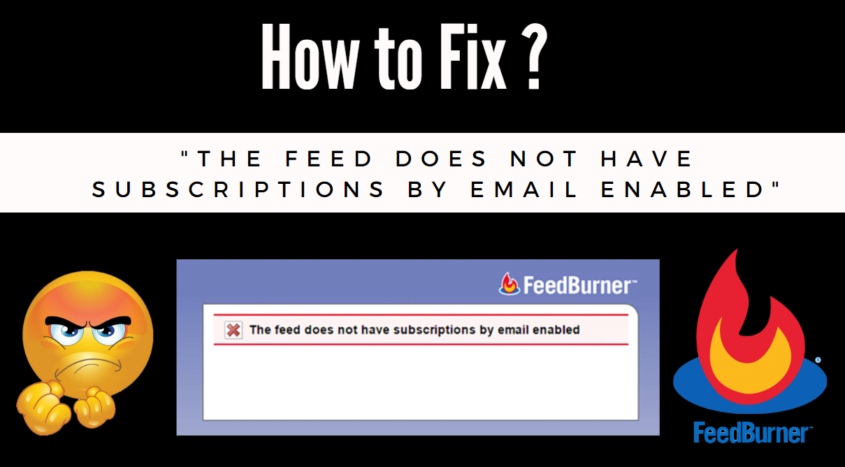 "How to Fix ""The Feed does not have Subscriptions by Email Enabled"""