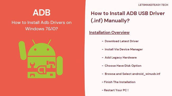 How to Install Adb Drivers on Windows 7&10?