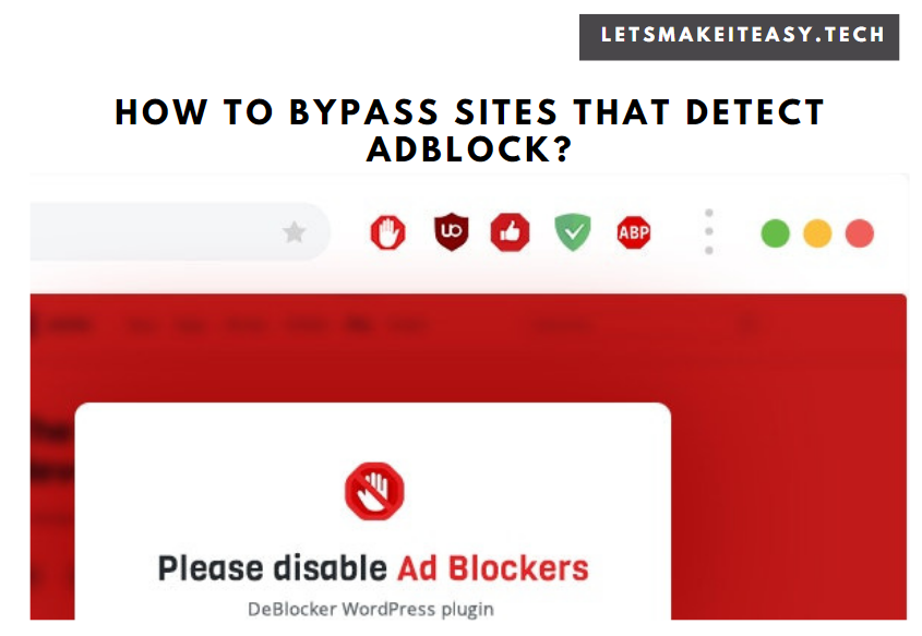 How to Bypass Adblock Detection Inspect Element