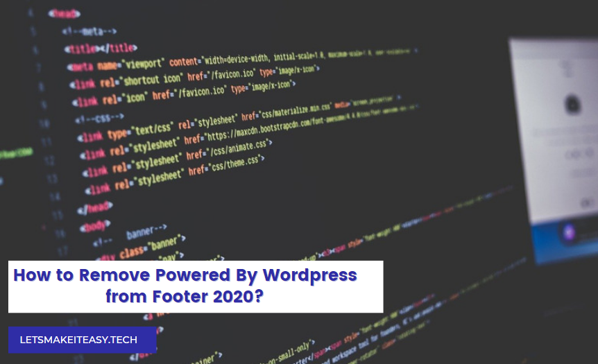 How to Remove Powered By Wordpress from Footer 2020?