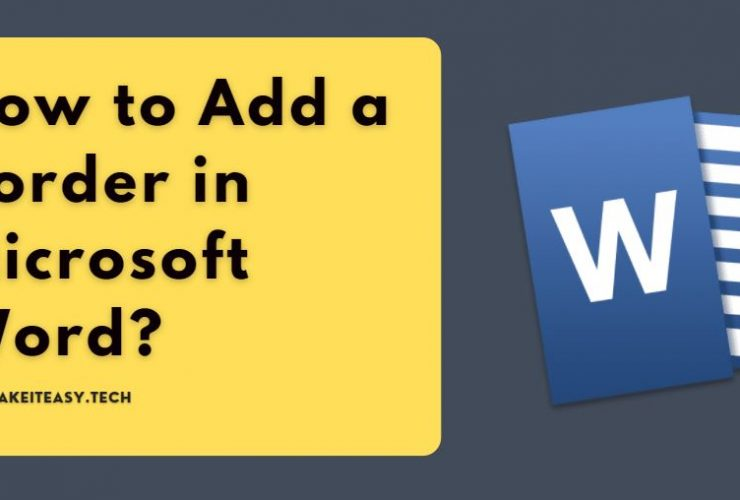 How to Add a Border in Microsoft Word?