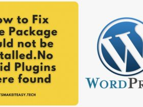 "How to Fix ""The Package could not be installed.No Valid Plugins were found"