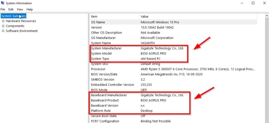 How to Find Your Motherboard Model in Windows 7,8,8.1&10?