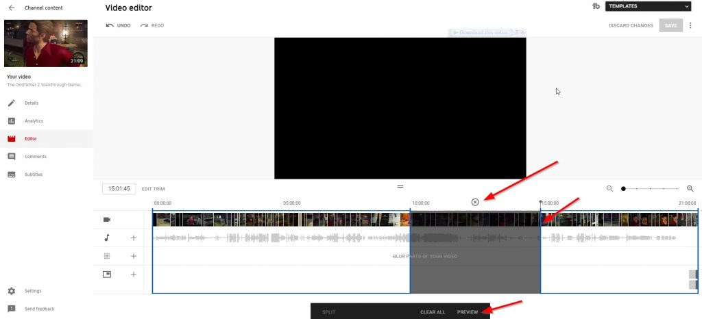 How to Trim & Split Your Videos with YouTube Video Editor Easily?