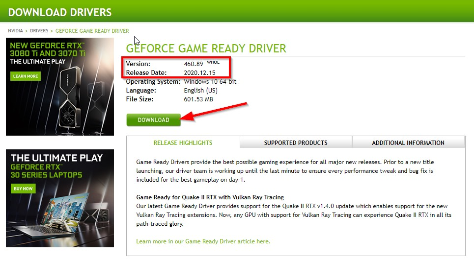 How to Download & Install Nvidia Drivers (Older Versions)