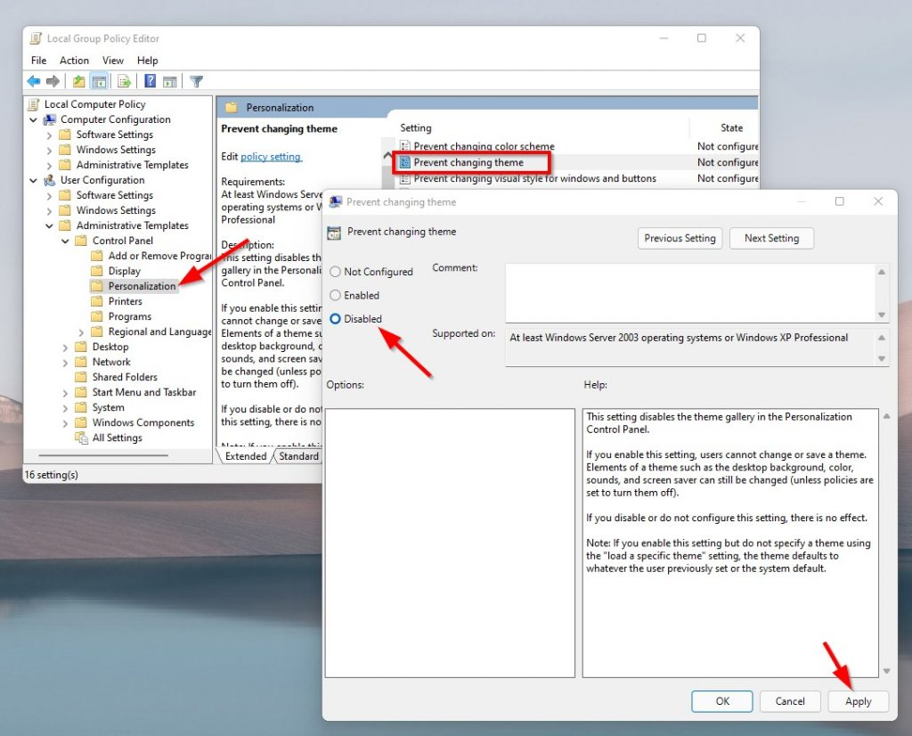 """How to Fix """"Change Desktop Background disabled by Administrator in Windows 7,8,8.1,10 &11?"""